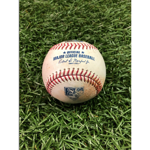 Photo of 20th Anniversary Game Used Baseball: Austin Meadows single off Thomas Pannone - First MLB Season - September 28, 2018 v TOR