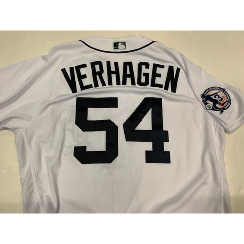 Game-Used Alan Trammell Number Retirement Day Jersey: Drew VerHagen