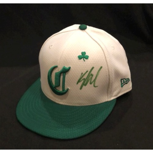 Photo of Kyle Wren -- Autographed & Game-Used Cap -- 2019 St. Patrick's Day