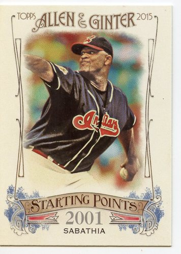 Photo of 2015 Topps Allen and Ginter Starting Points #SP60 CC Sabathia