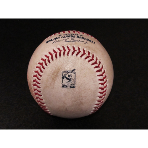 Photo of Game-Used Baseball - Pitcher: Jalen Beeks, Batter: Tim Lopes (Line out) - 8/9/19 vs. TB