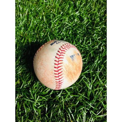 Game Used Baseball: Kevin Kiermaier 2RBI single off Wade LeBlanc - August 21, 2019 v SEA