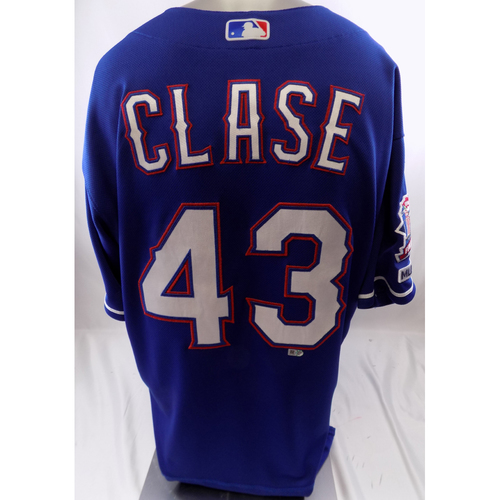 Blue Game-Used Jersey - Emmanuel Clase - 9/10/19, 9/29/19