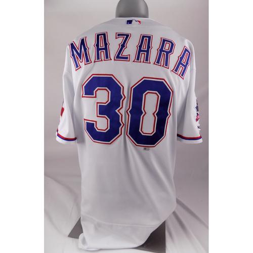 Photo of Final Season Game-Used White Jersey - Nomar Mazara - 8/3/2019