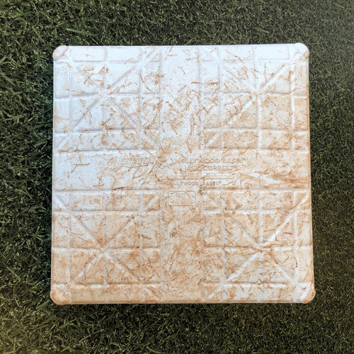 Photo of Game-Used Base 05/21/19 CIN Hiura Home Debut