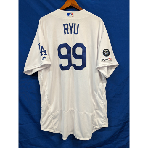 Photo of Hyun-Jin Ryu 2019 Team Issued Home Jersey
