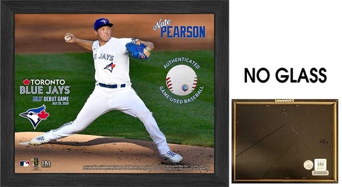 "Photo of Toronto Blue Jays 9"" by 11"" Nate Pearson Frame with Game Used Baseball from MLB Debut Game by Highland Mint"
