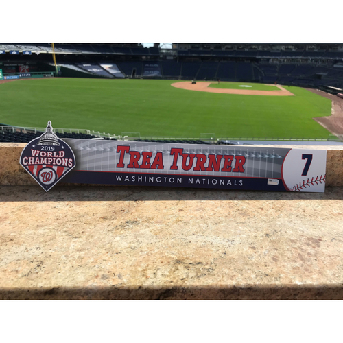 Photo of Trea Turner Game-Used 2020 Locker Tag