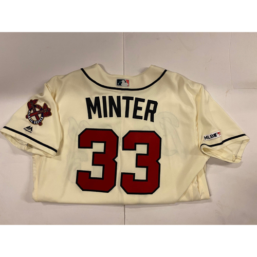 Photo of AJ Minter 2019 Team Issued Ivory Jersey