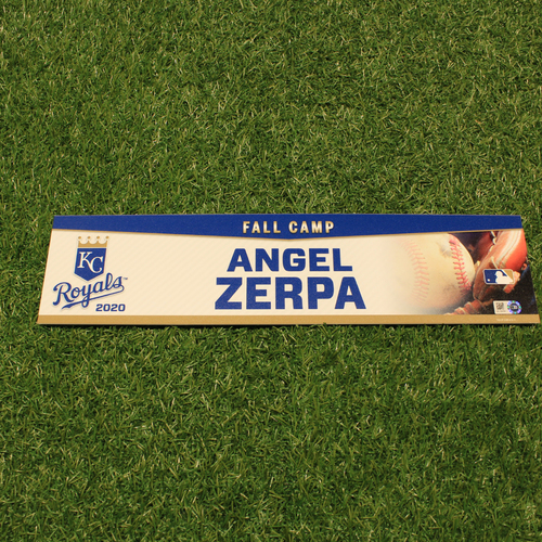 Photo of Team-Issued 2020 Fall Camp Locker Tag: Angel Zerpa