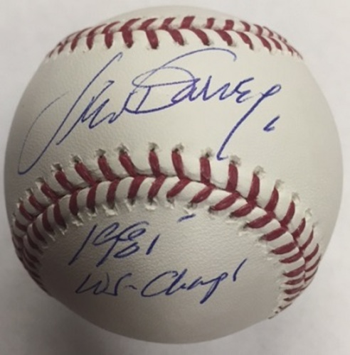 "Photo of Steve Garvey Autographed ""81 WS Champs"" Baseball"