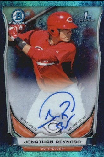 Photo of 2014 Bowman Chrome Prospect Autographs Bubble Refractors #BCAPJRE Jonathan Reynoso