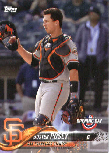 Photo of 2018 Topps Opening Day #5 Buster Posey