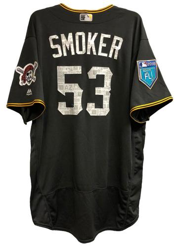 Photo of Josh Smoker Game-Used 2018 Spring Training Jersey