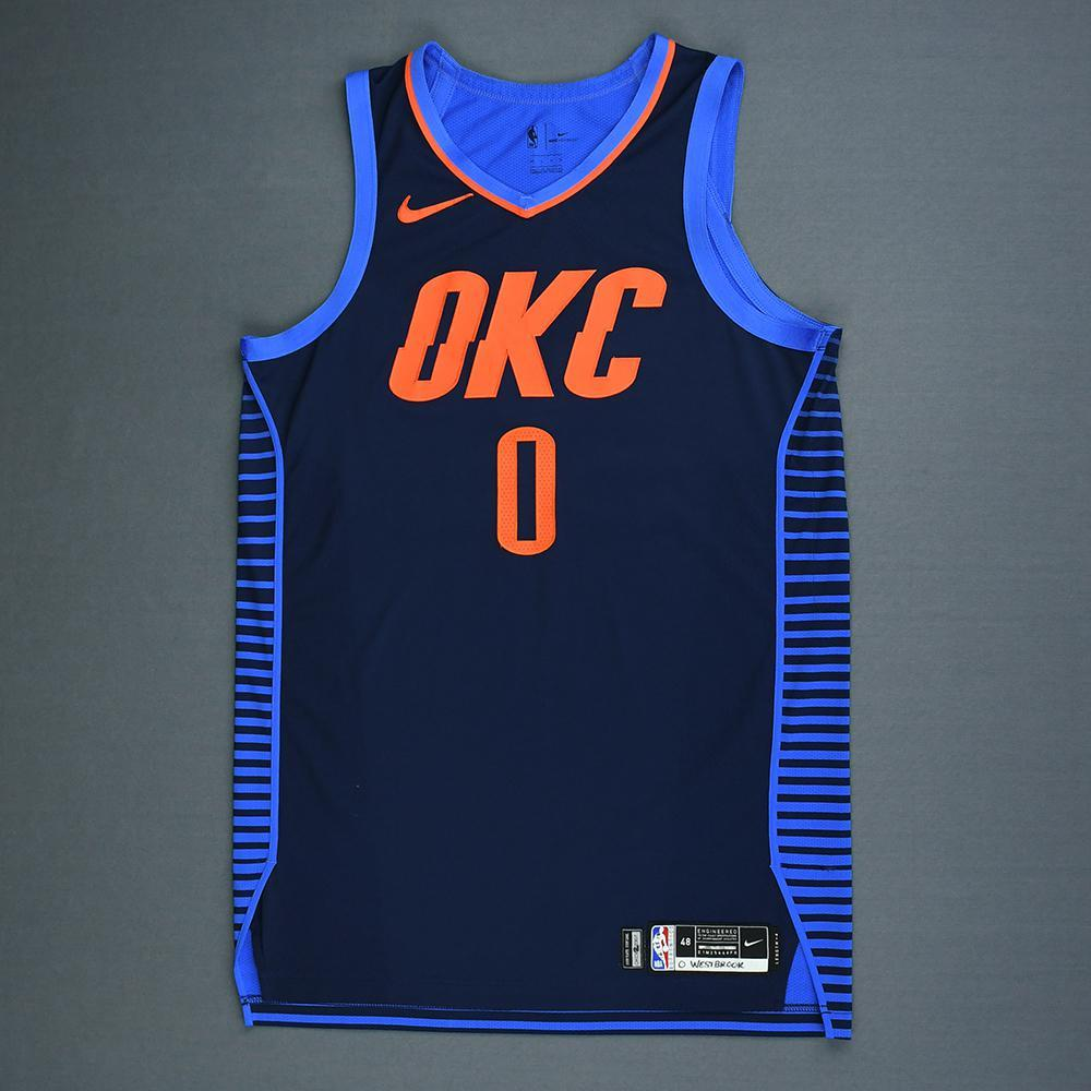 ed5a5deab Russell Westbrook - Oklahoma City Thunder - Christmas Day  18 - Game-Worn  2nd