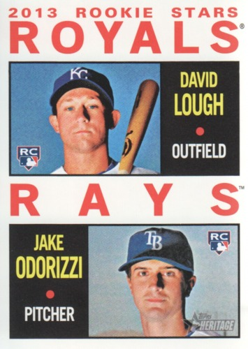 Photo of 2013 Topps Heritage #408 David Lough RC/Jake Odorizzi RC