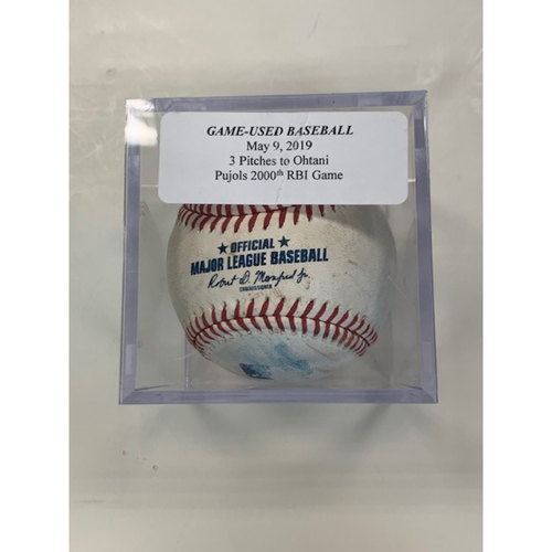 Photo of Game-Used Baseball: 3 Pitches to Shohei Ohtani