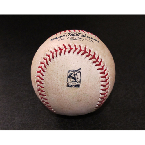 Photo of Game-Used Baseball - Pitcher: Tommy Milone, Batter: Willy Adames (Double) - 8/10/19 vs. TB