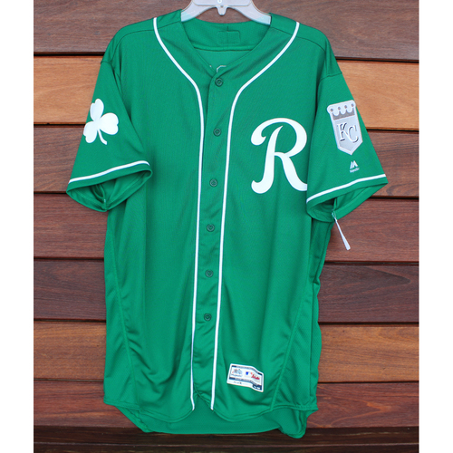 Photo of Team-Issued St. Patrick's Day Jersey: Jorge Lopez (Size - 46)
