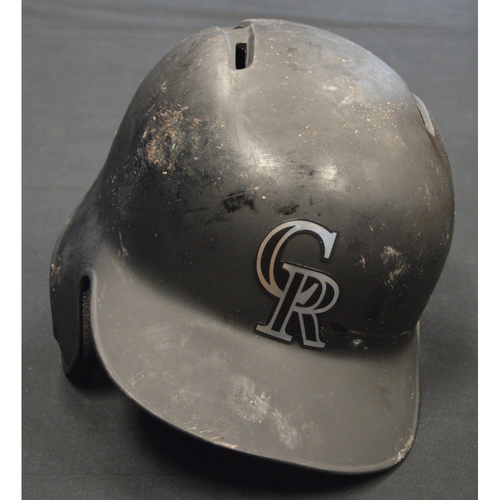 "Photo of Yonder ""Mr. 305"" Alonso Colorado Rockies Game-Used 2019 Players' Weekend Helmet"