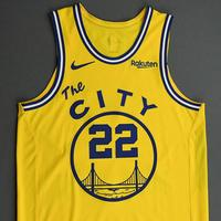 Glenn Robinson III - Golden State Warriors - Game-Worn Classic Edition 1966-67 Home Jersey - Double-Double - 2019-20 NBA Season