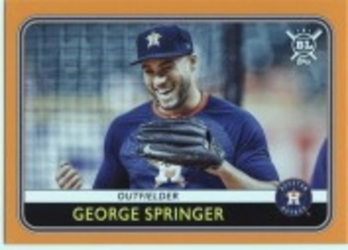 Photo of 2020 Topps Big League Orange #5 George Springer