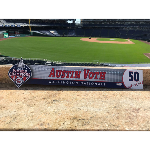 Photo of Austin Voth Game-Used 2020 Locker Tag