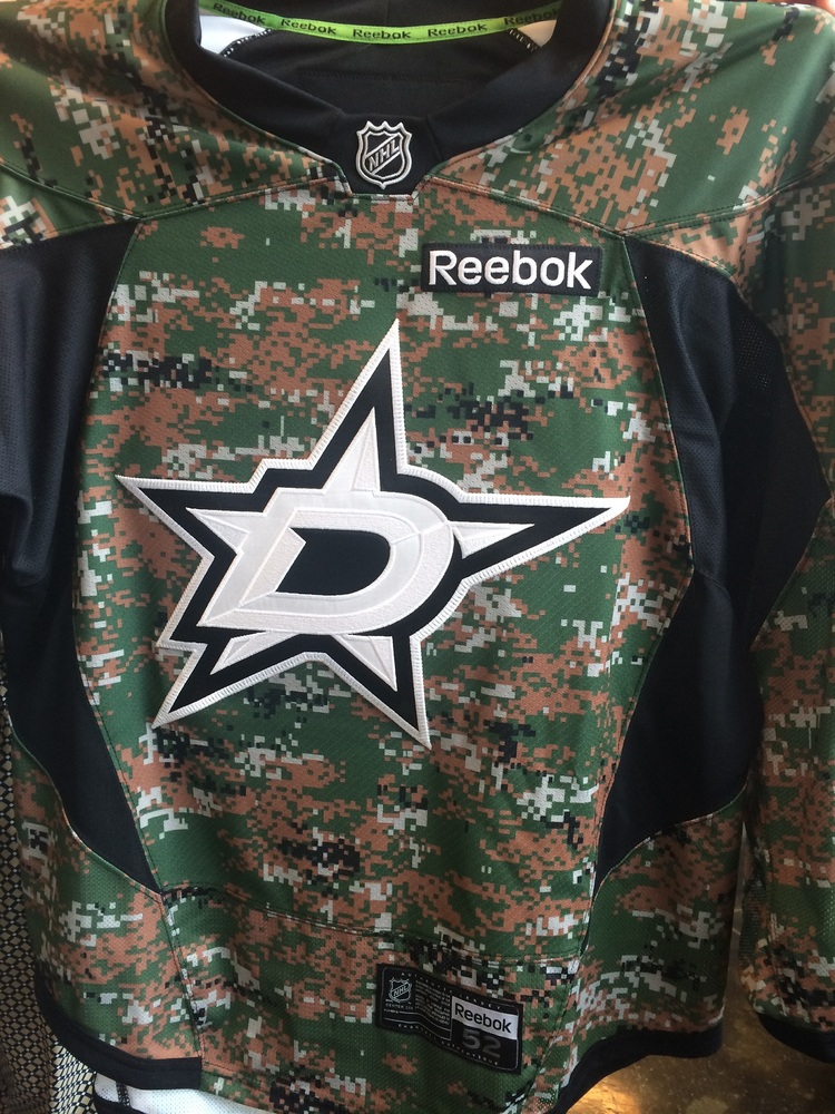 new arrival f0cd6 5faba Dallas Stars, Shawn Horcoff, warm-up worn camo jersey - NHL ...