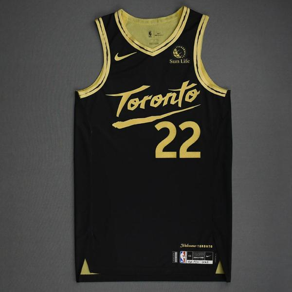 Image of Patrick McCaw - Toronto Raptors - Game-Worn City Edition Jersey - Dressed, Did Not Play (DNP) - 2020-21 NBA Season