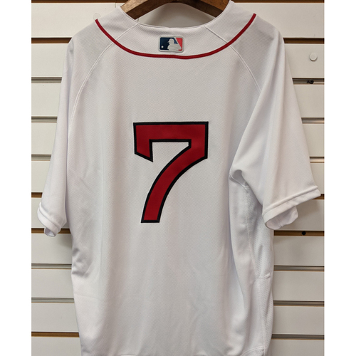 Photo of Christian Vazquez #7 Team Issued Nike Home White Jersey