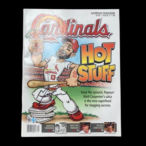 Photo of Matt Carpenter Autographed Cardinals Gameday Magazine