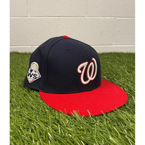 Photo of Matt Adams Game-Used 2019 World Series Hat