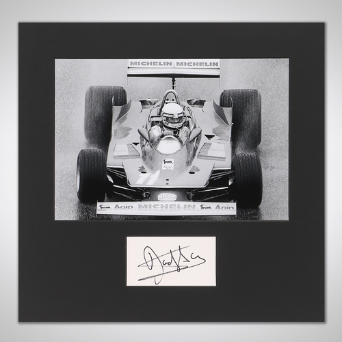 Photo of Jody Scheckter 1979 Photograph With Mounted Autograph