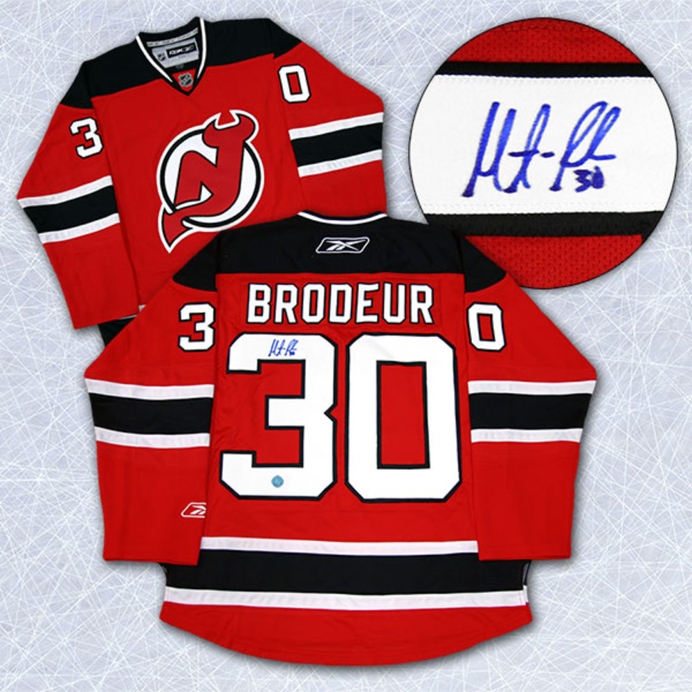 Martin Brodeur New Jersey Devils Autographed Red Reebok Premier Hockey Jersey
