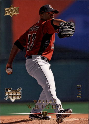 Photo of 2008 Upper Deck Gold #728 Wesley Wright RC /99