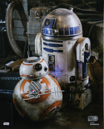 Brian Herring as BB-8 Autographed Blue Ink 16x20 Photo