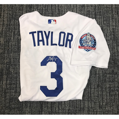 Photo of Kirk Gibson Foundation Auction: Chris Taylor 2018 Game-Used Autographed Los Angeles Dodger Jersey
