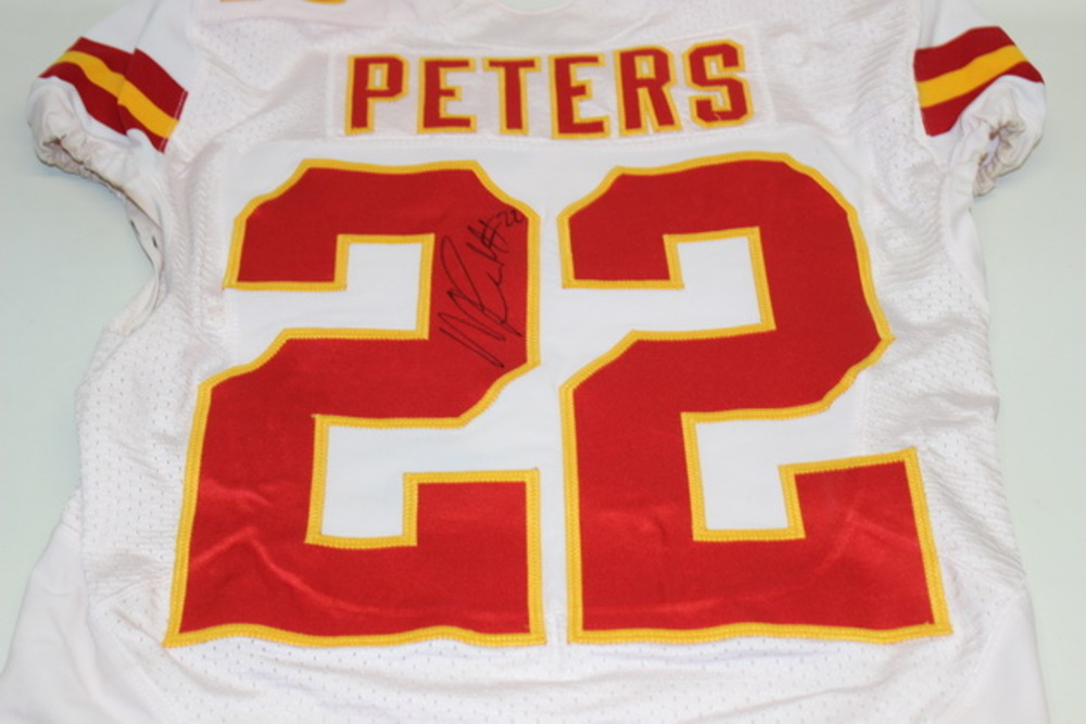 new concept 0a39d acfe1 NFL Auction   STS - CHIEFS MARCUS PETERS GAME WORN AND ...