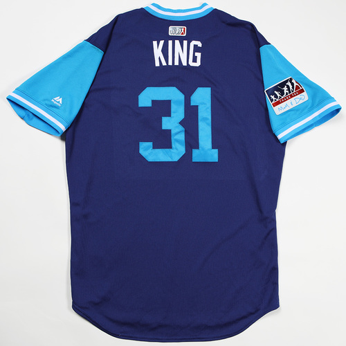 "Photo of Joc ""King"" Pederson Los Angeles Dodgers Game-Used 2018 Players' Weekend Jersey"