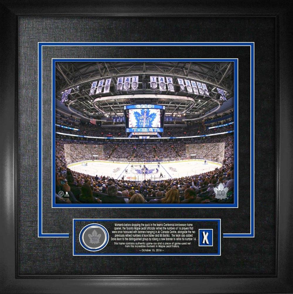 Air Canada Centre 16x20 With Game Net & Ice Maple Leafs