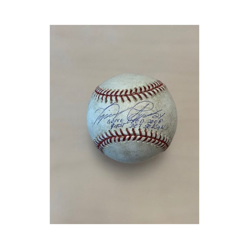 Photo of Autographed Game-Used Baseball: Miguel Cabrera 2008 First Detroit Season