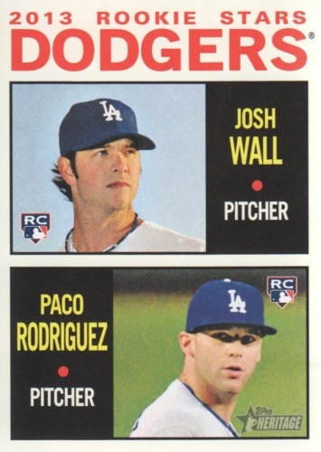 Photo of 2013 Topps Heritage #14 Josh Wall RC/Paco Rodriguez RC