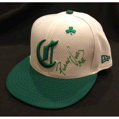 Photo of Rolando Valles -- Autographed & Game-Used Cap -- 2019 St. Patrick's Day