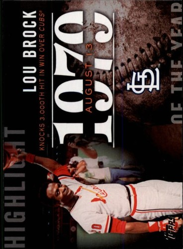 Photo of 2015 Topps Highlight of the Year #H78 Lou Brock UPD