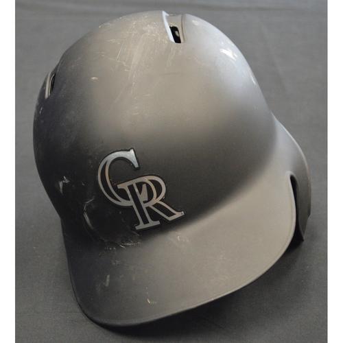 """Photo of Trevor """"TRUE"""" Story Colorado Rockies Game-Used 2019 Players' Weekend Helmet"""