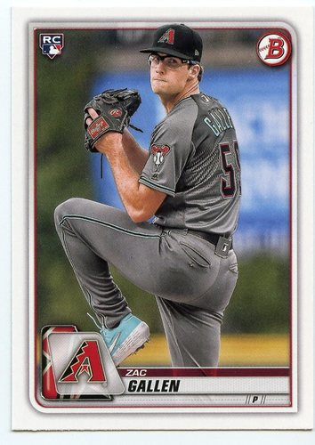 Photo of 2020 Bowman #75 Zac Gallen RC