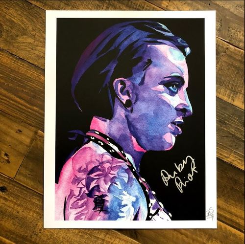 Photo of Ruby Riott SIGNED 11 x 14 Rob Schamberger Print