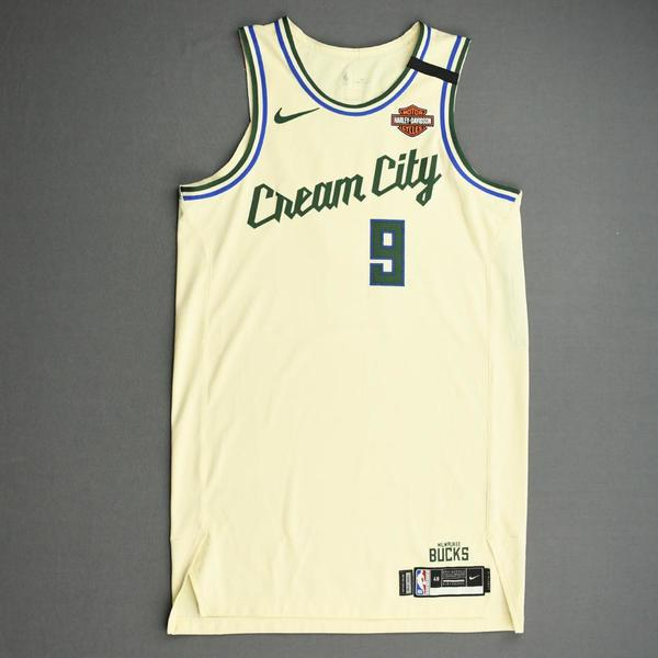 Image of Wesley Matthews - Milwaukee Bucks - Game-Worn City Edition Jersey - 2019-20 NBA Season Restart with Social Justice Message