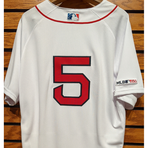 Photo of Tzu-Wei Lin #5 Team Issued Home White Jersey