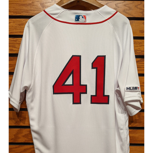 Photo of Chris Sale #41 Team Issued Home White Jersey
